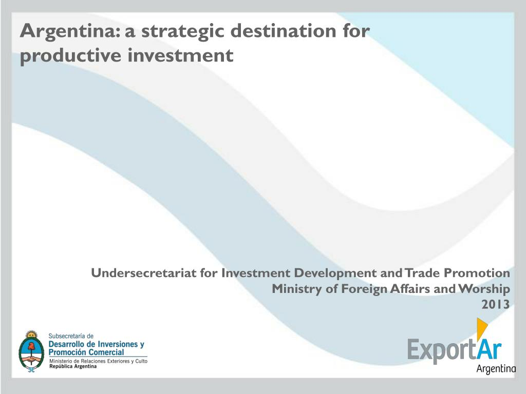 Undersecretariat for investment development crosswinds investments