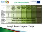 strategic research agenda scope