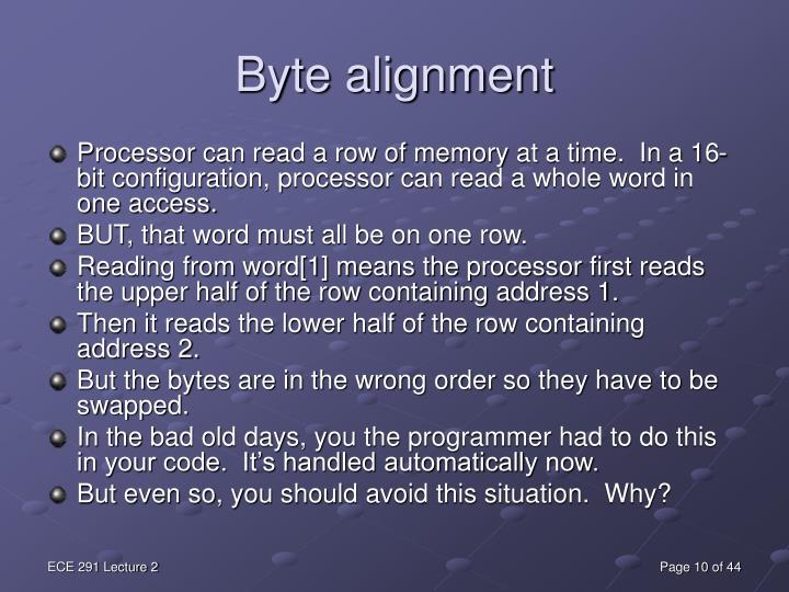 Byte alignment