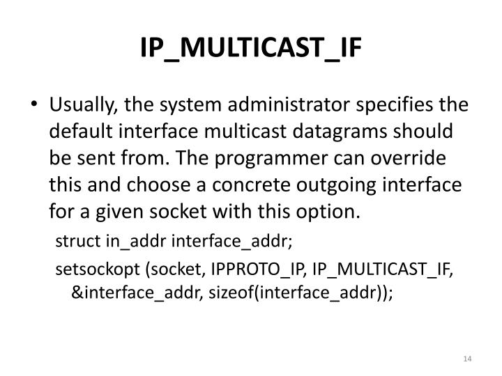 IP_MULTICAST_IF