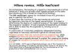 hillova rovnice hill v koeficient