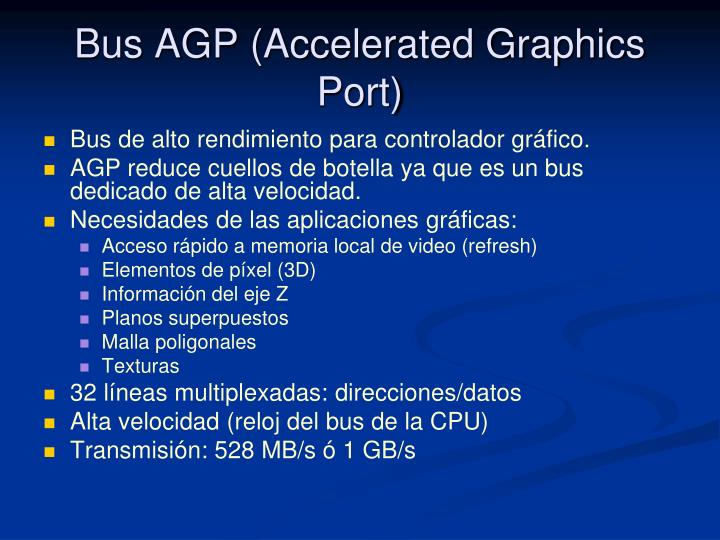 Bus AGP (Accelerated Graphics Port)