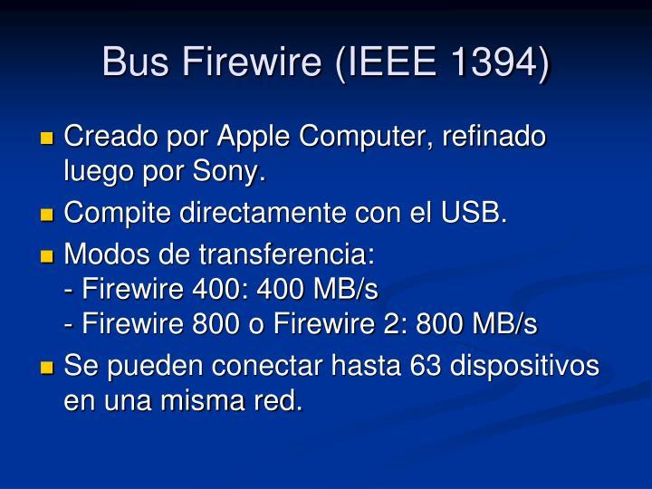 Bus Firewire (IEEE 1394)