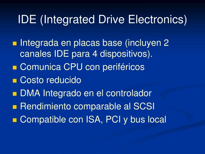 IDE (Integrated Drive Electronics)