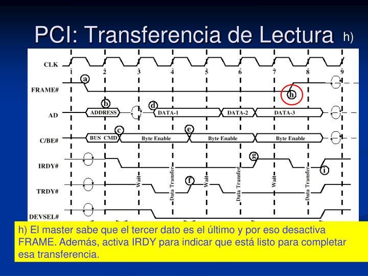 PCI: Transferencia de Lectura