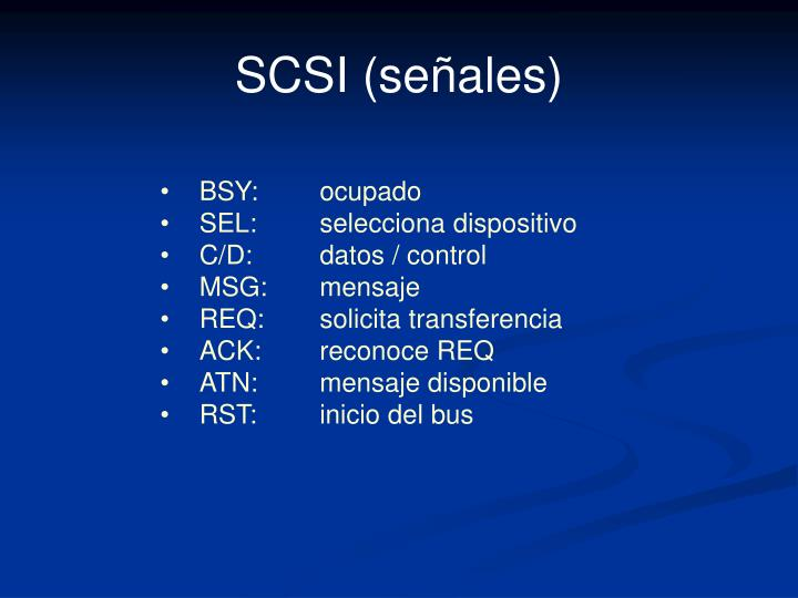 SCSI (señales)