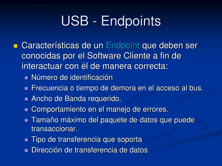 USB - Endpoints