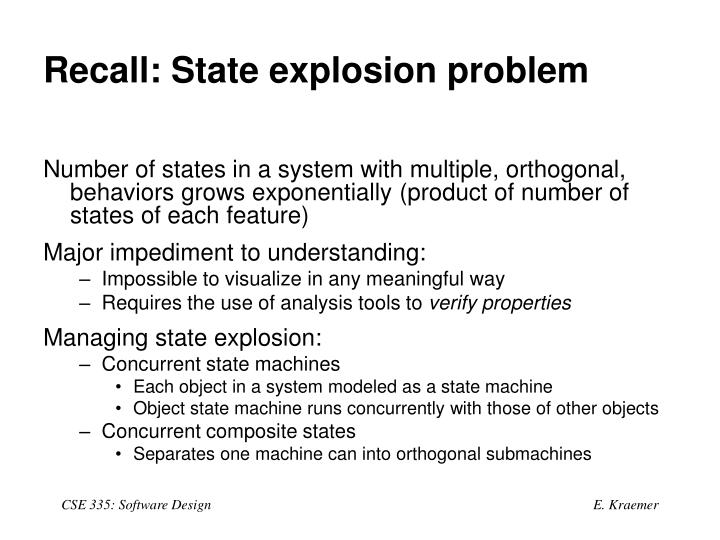 Recall: State explosion problem