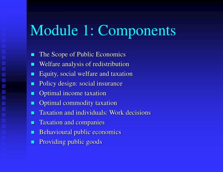 Module 1: Components