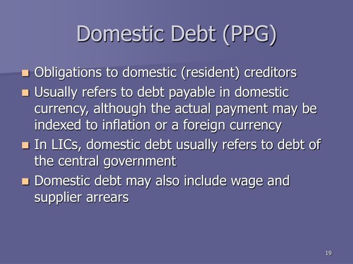 Domestic Debt (PPG)
