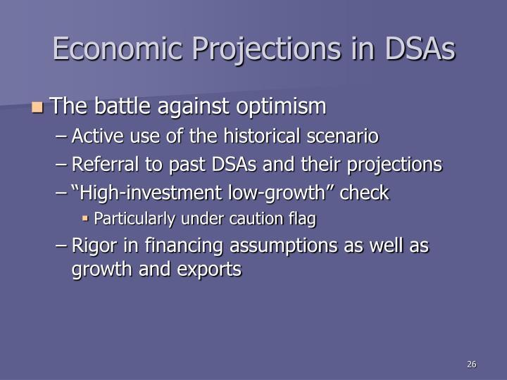 Economic Projections in DSAs