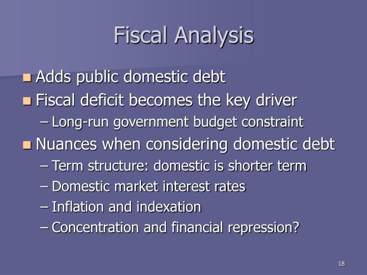 Fiscal Analysis