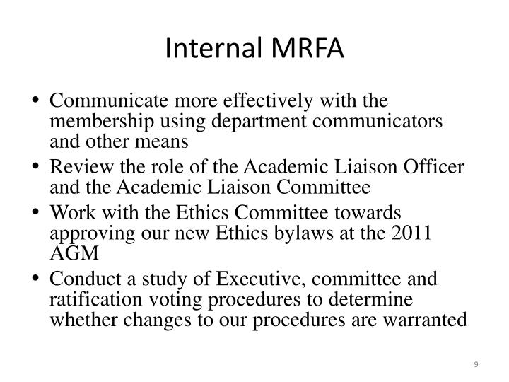 Internal MRFA