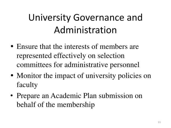 University Governance and Administration