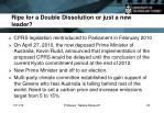 ripe for a double dissolution or just a new leader