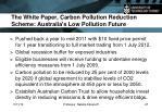 the white paper carbon pollution reduction scheme australia s low pollution future