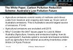 the white paper carbon pollution reduction scheme australia s low pollution future1