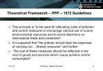 theoretical framework ppp 1972 guidelines