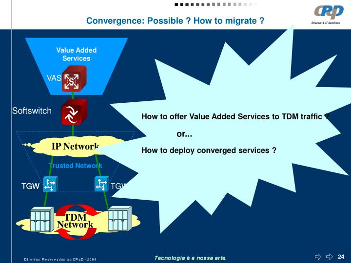 How to offer Value Added Services to TDM traffic ?
