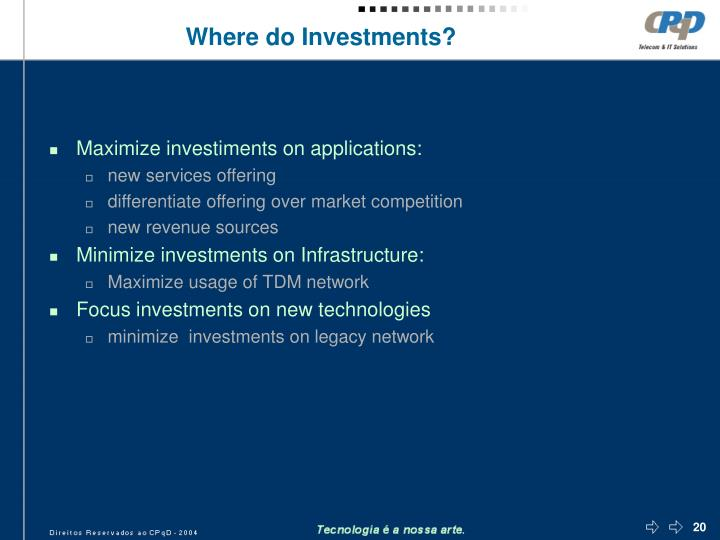 Where do Investments?