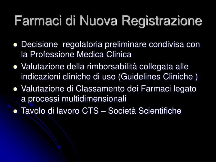 Farmaci di Nuova Registrazione