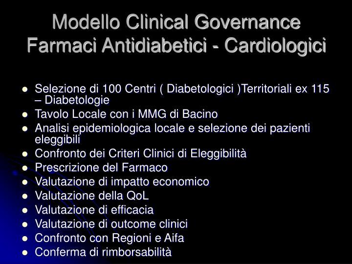 Modello Clinical Governance