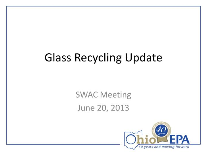 glass recycling update n.