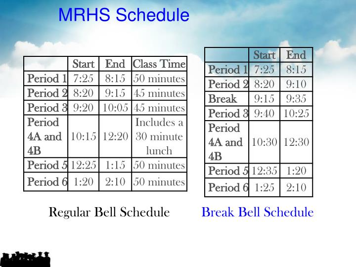 MRHS Schedule