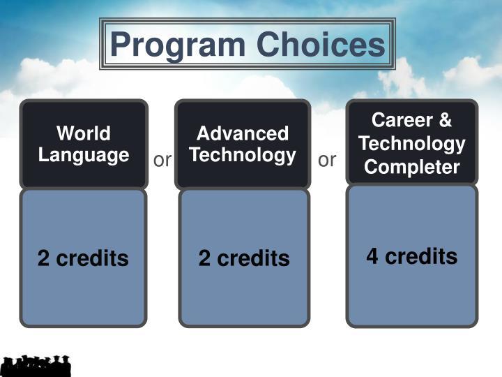 Program Choices