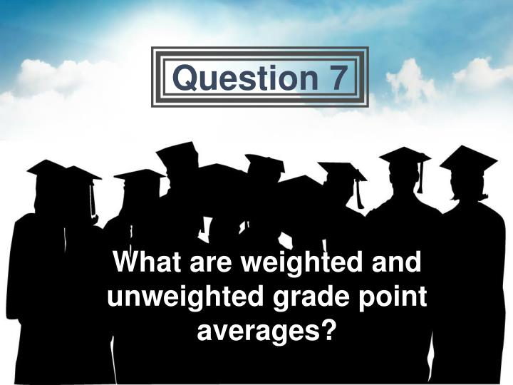 What are weighted and unweighted grade point averages?