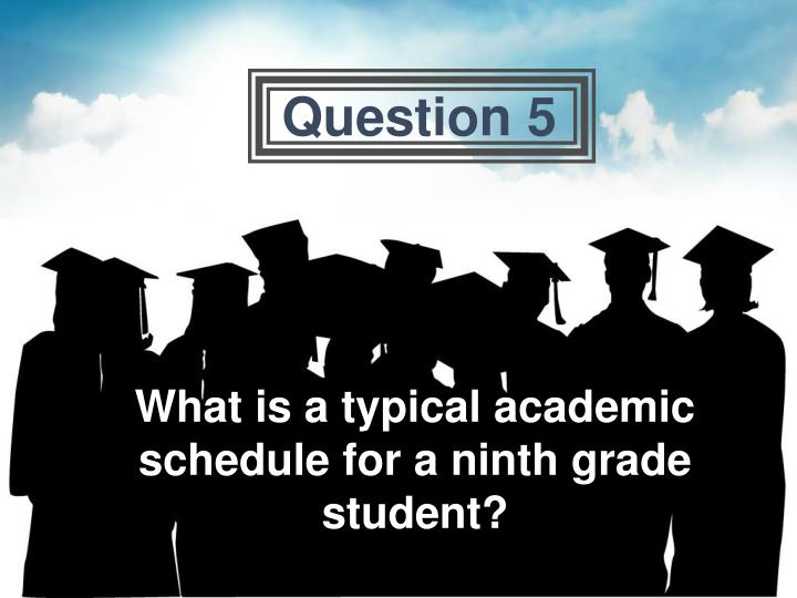 What is a typical academic schedule for a ninth grade student?