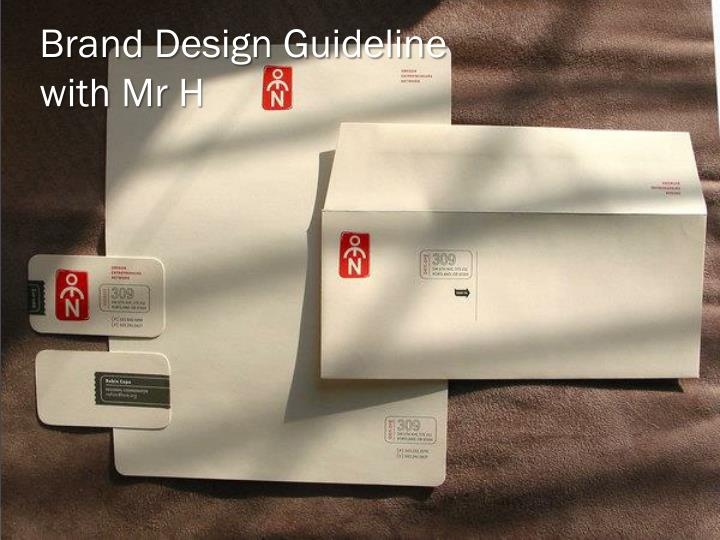 Brand design guideline with mr h
