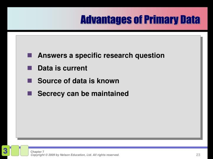 Advantages of Primary Data