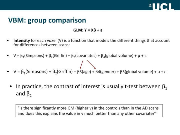 VBM: group comparison