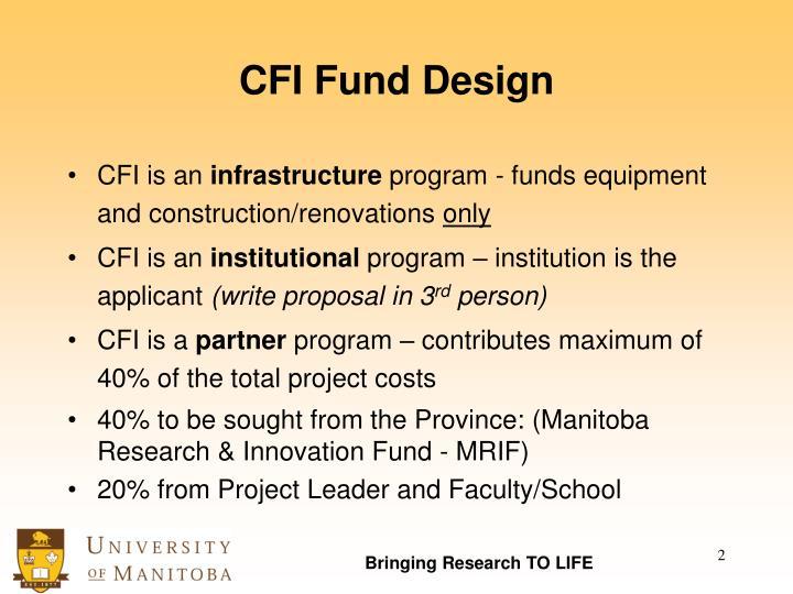 Cfi fund design