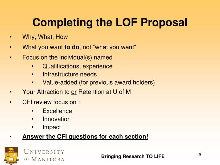 Completing the LOF Proposal