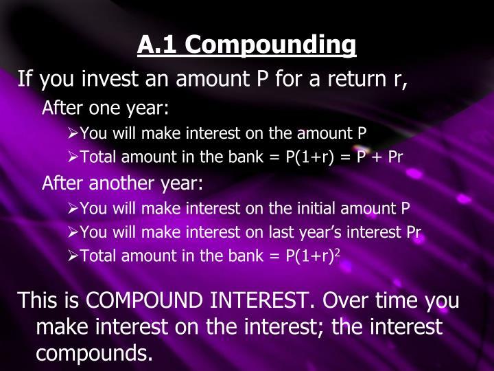 A 1 compounding
