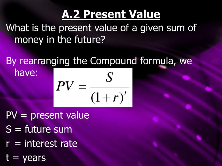 A.2 Present Value
