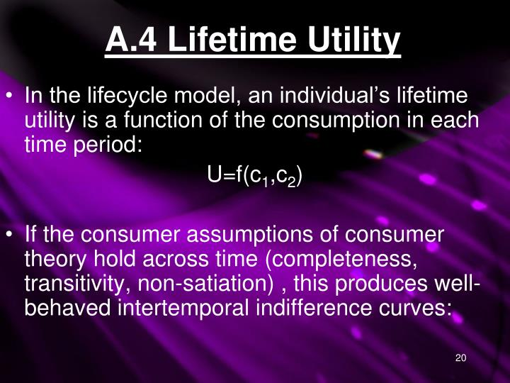 A.4 Lifetime Utility