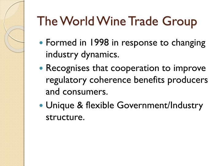 The world wine trade group