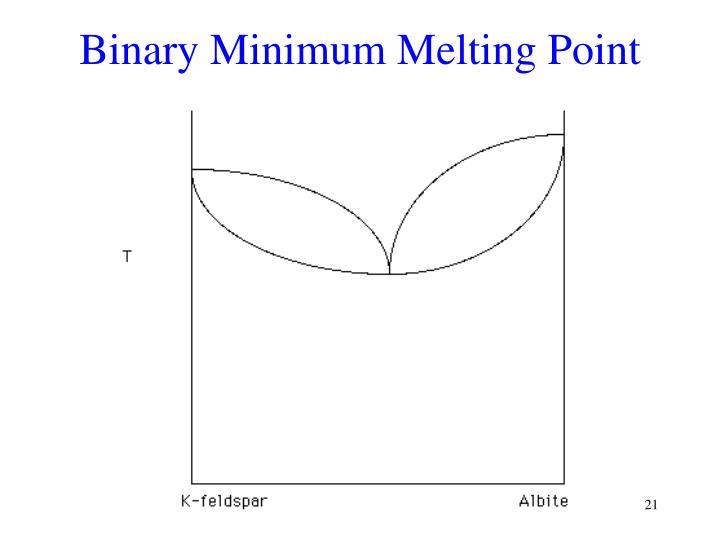 Binary Minimum Melting Point