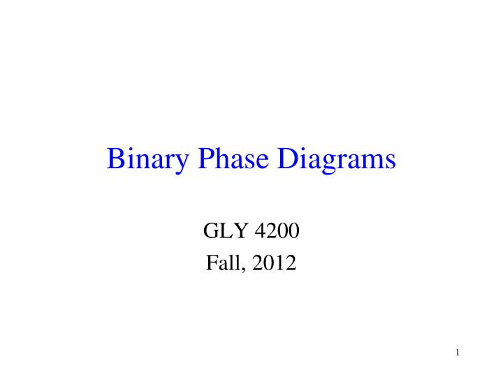 Binary Phase Diagram.Ppt Binary Phase Diagrams Powerpoint Presentation Id 4365328