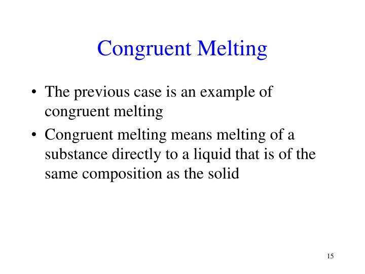 Congruent Melting