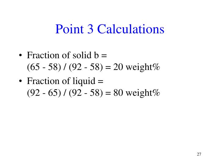 Point 3 Calculations