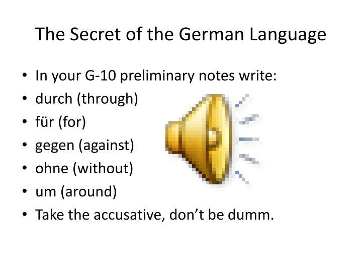 The secret of the german language2