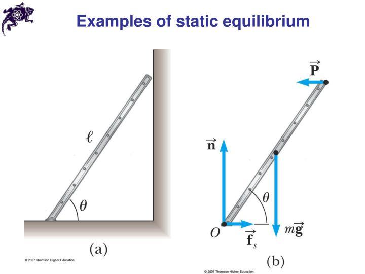Examples of static equilibrium