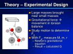 theory experimental design