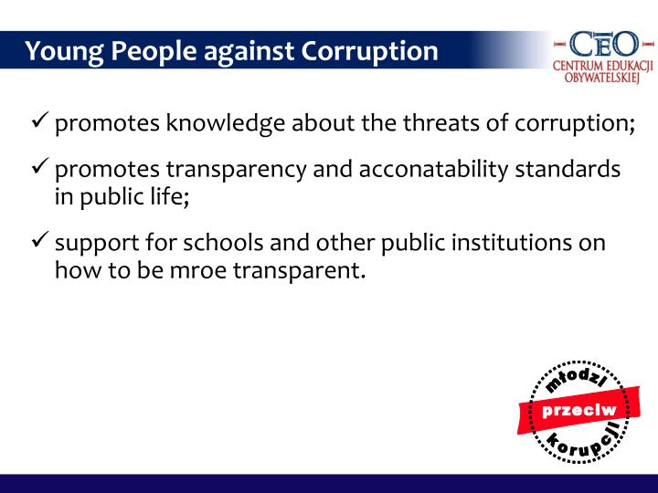 Young People against Corruption