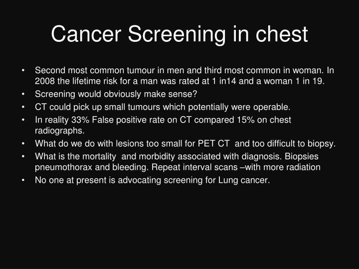 Cancer Screening in chest