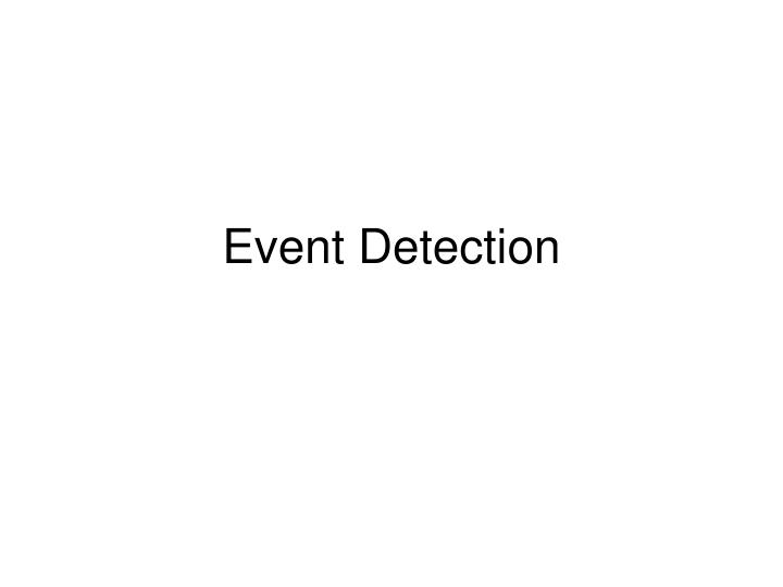 event detection n.